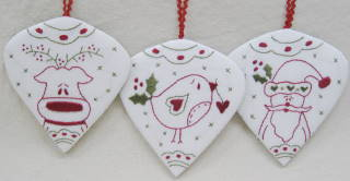 Holly Berry Ornaments