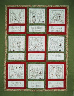 christmas stitchery of the month 9