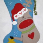 rudolfs felt stocking